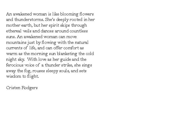 an awakened woman