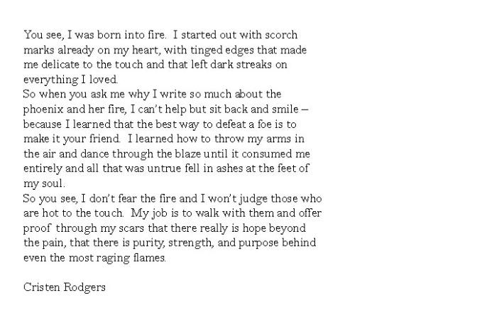 born into fire