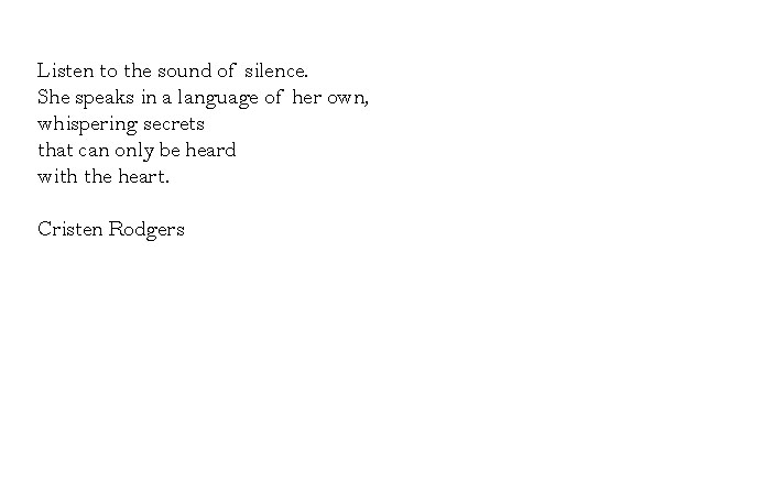 listen to the sound of silence