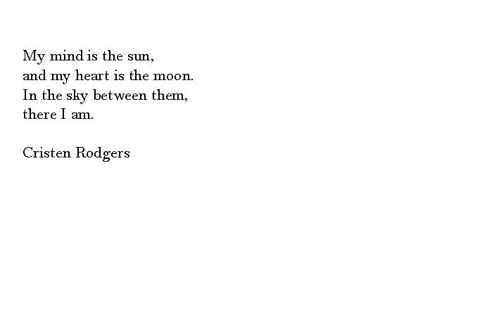 my mind is the sun