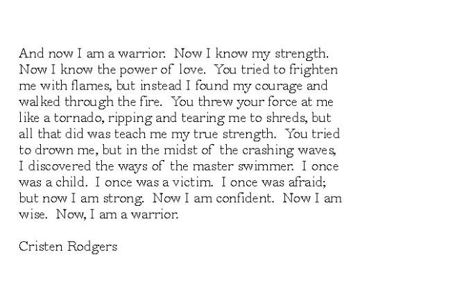 now i am a warrior