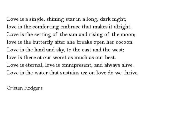 On Love do we thrive