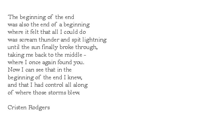 the beginning of the end was the end of a beginning
