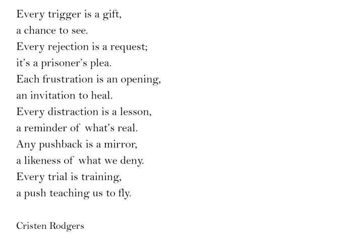 every trigger is a gift