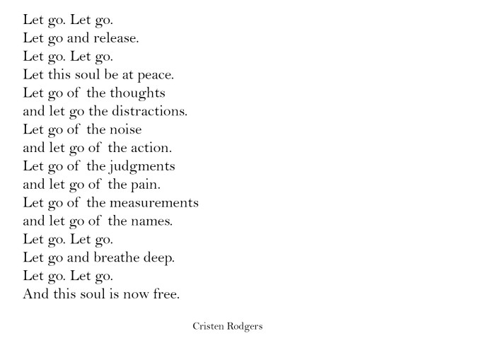 let go and be free