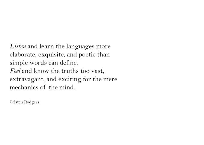 listen and feel