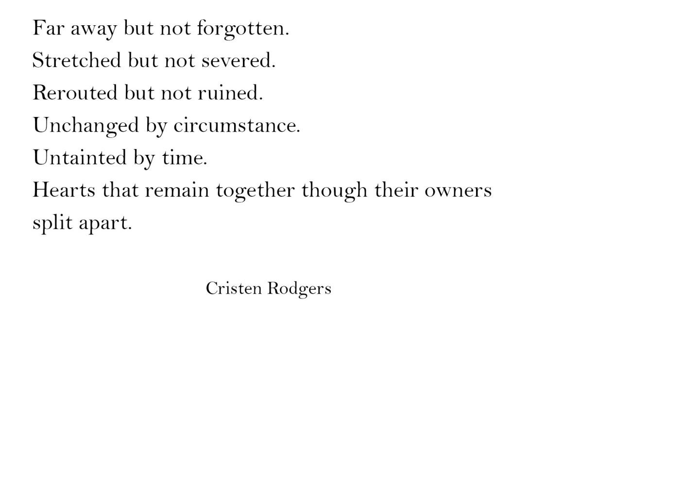 cristen rodgers quotes