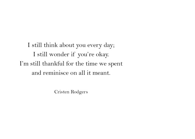 still think about you every day