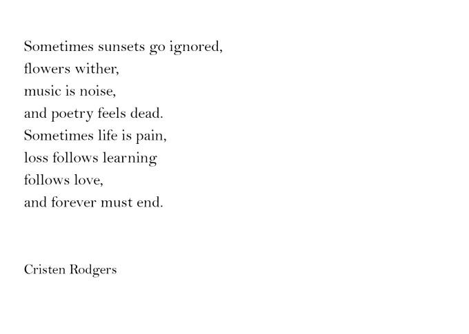 sometimes poetry feels dead