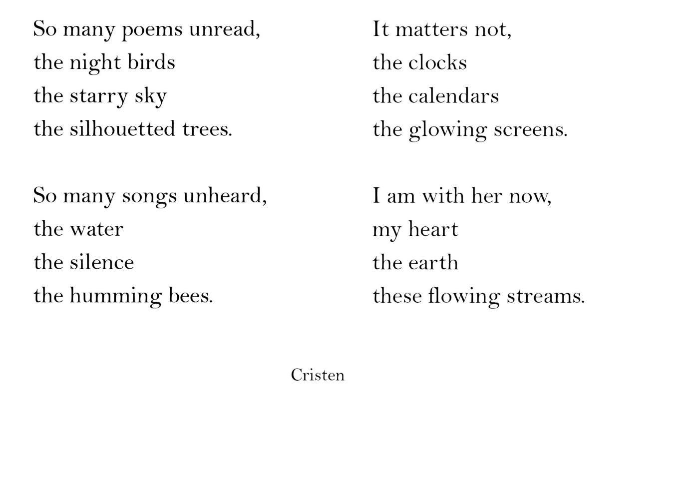 so many poems